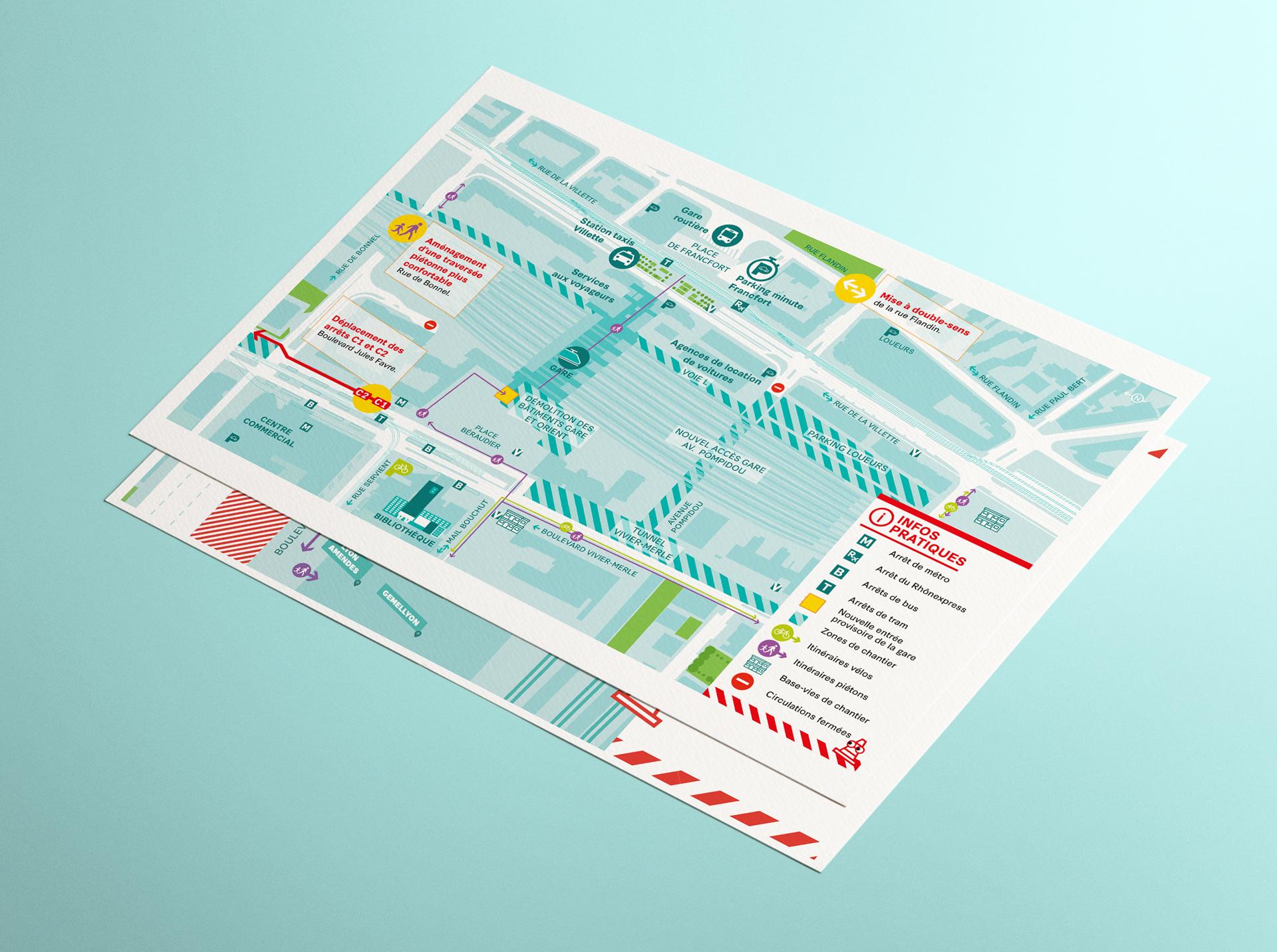 Carte détaillée pour le SPL Lyon Part-Dieu