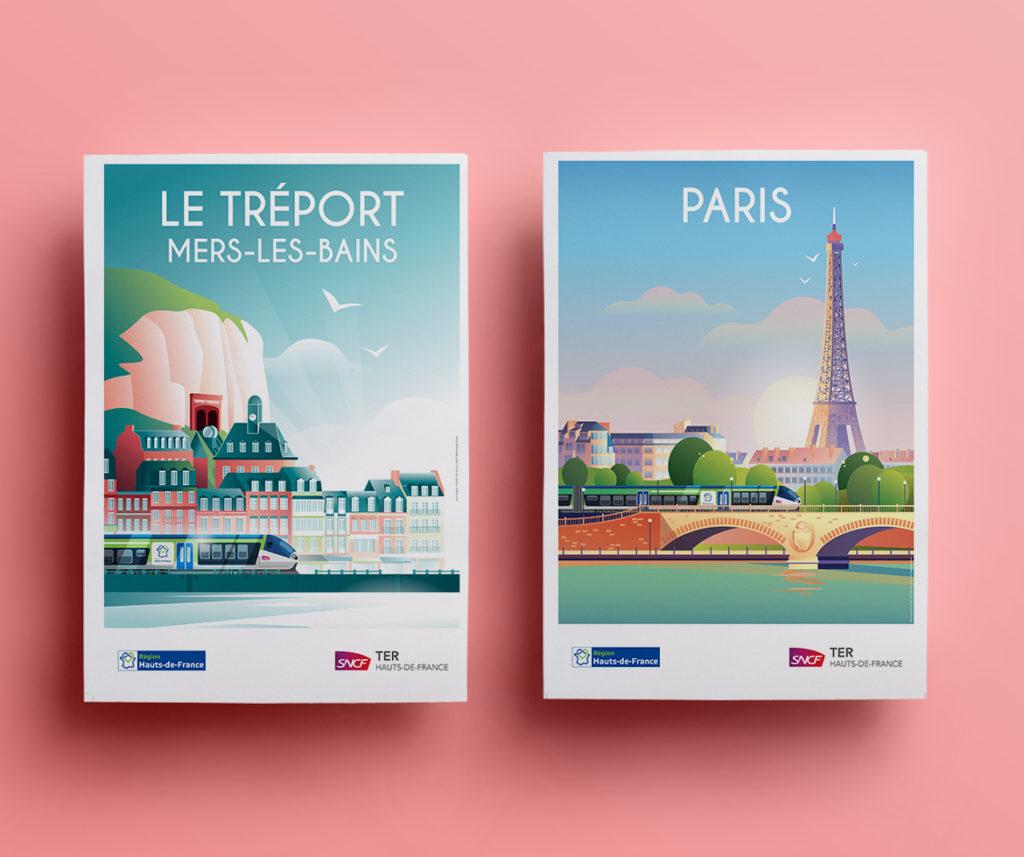 Affiche Paris Le Tréport 1024x857