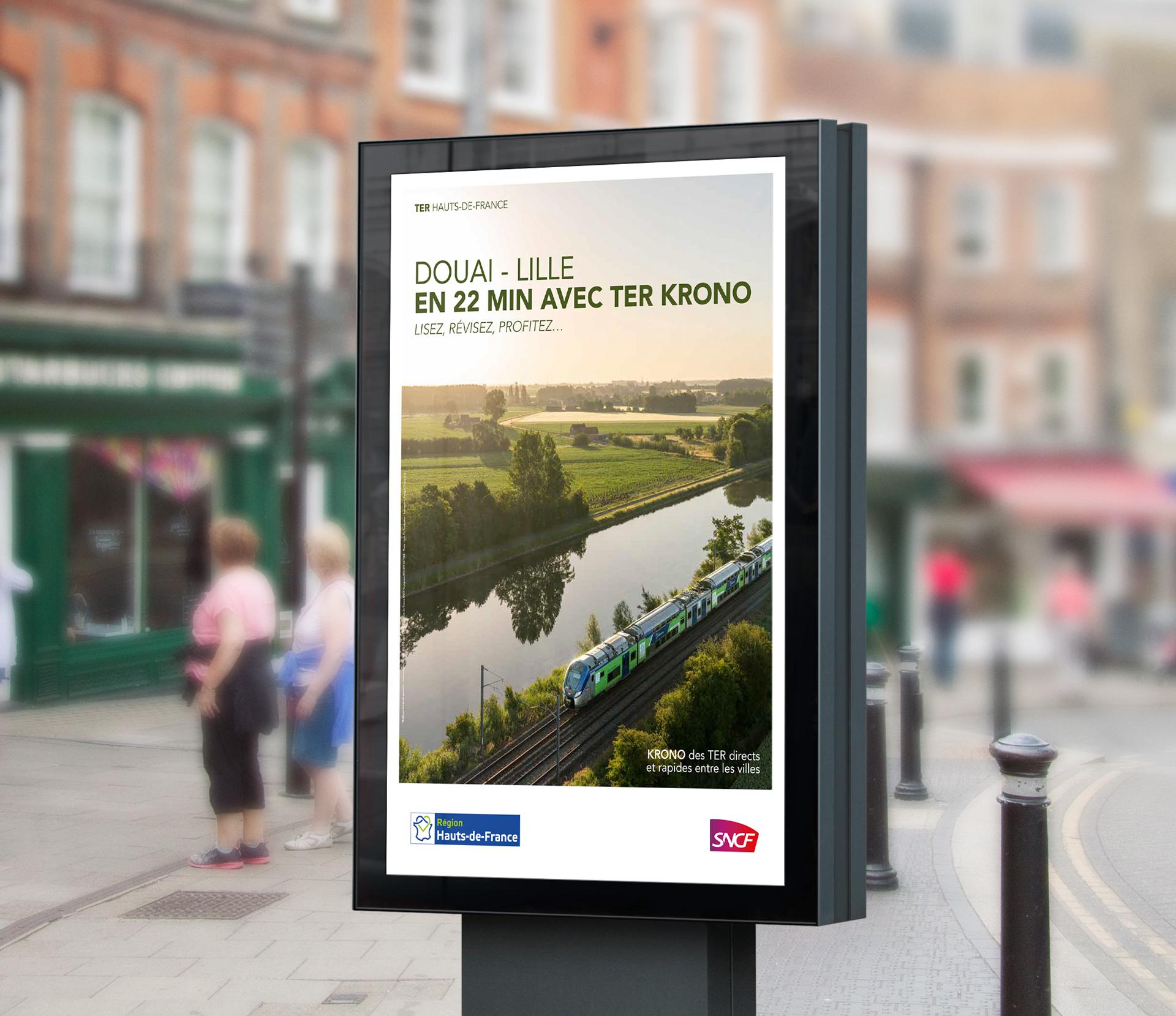 Affiche de motivation au train dans les Hauts de France